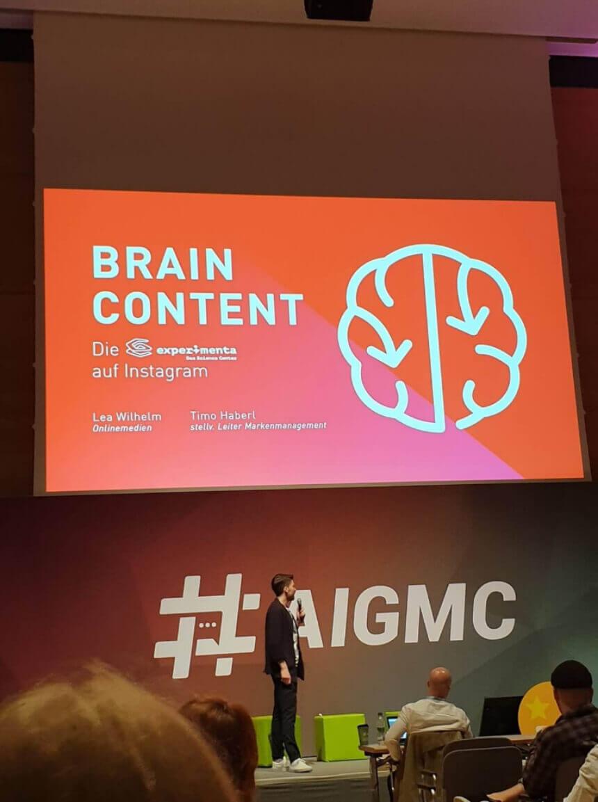 Keynote Experimenta zu Brain Content