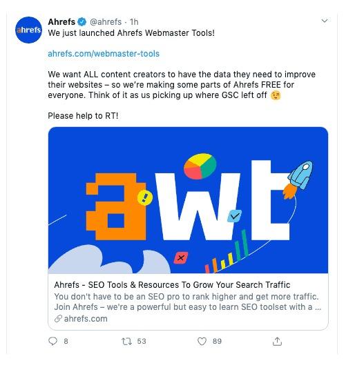 Ahrefs Webmaster Tool (AWT)