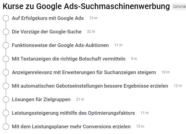 Vorbereitung GoogleAds Prüfung