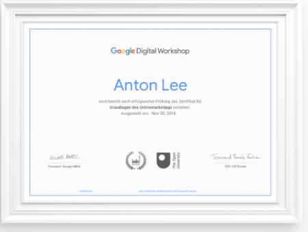 Google Zertifizierungen