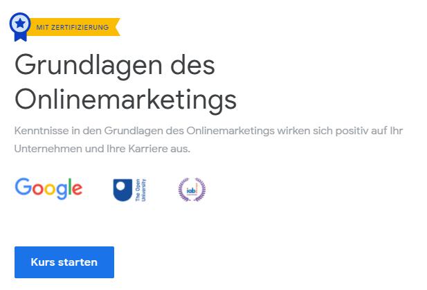 Grundlagenkurs Online Marketing