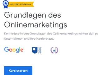 Grundlagen Kurs für Google Zertifizierung